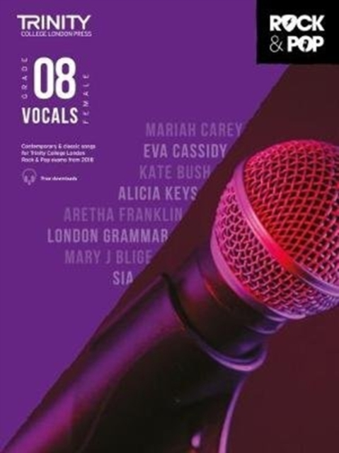 Trinity College London Rock & Pop 2018 Vocals Grade 8 CD Only