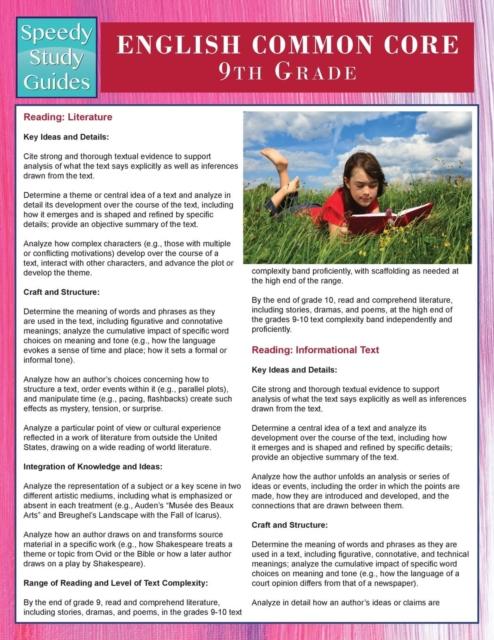 English Common Core 9th Grade (Speedy Study Guides)