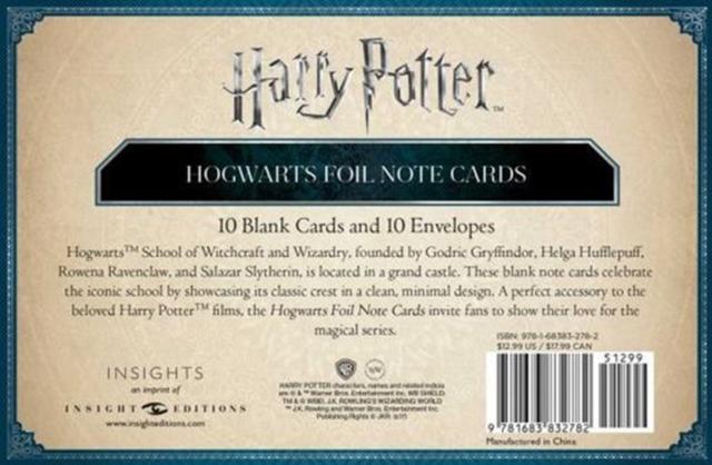 Harry Potter: Hogwarts Foil Note Cards