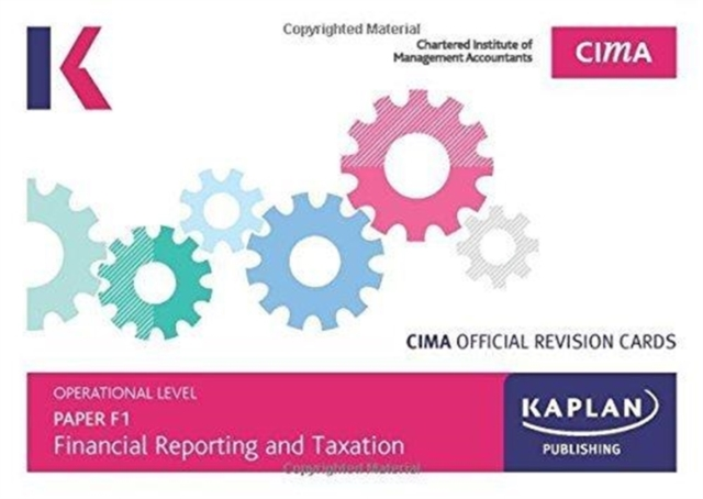 F1 FINANCIAL REPORTING AND TAXATION - REVISION CARDS