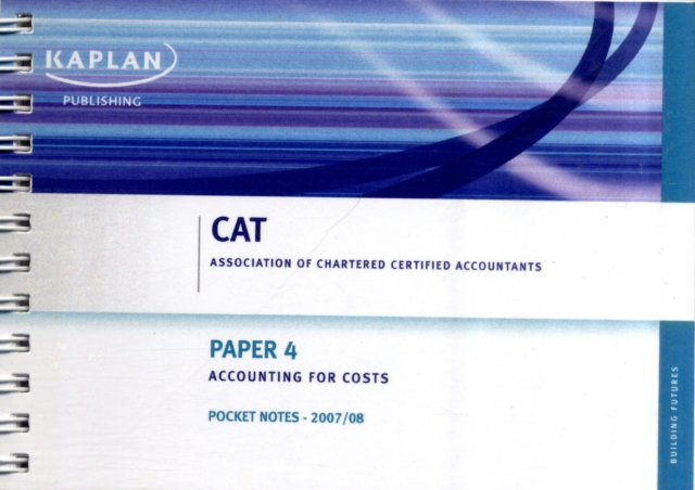 Accounting for Costs - Pocket Notes