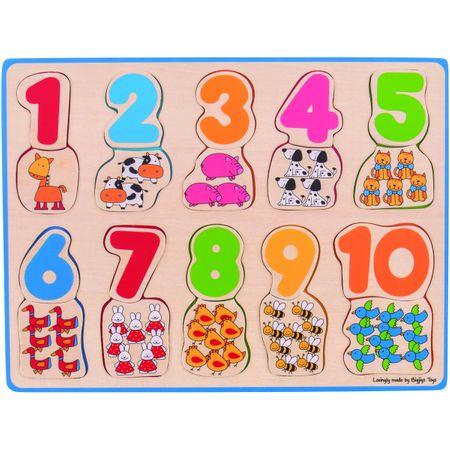 BigJigs Puzzle - numere si culori
