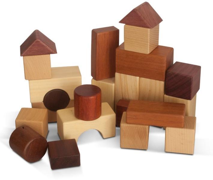Cuburi din lemn natural