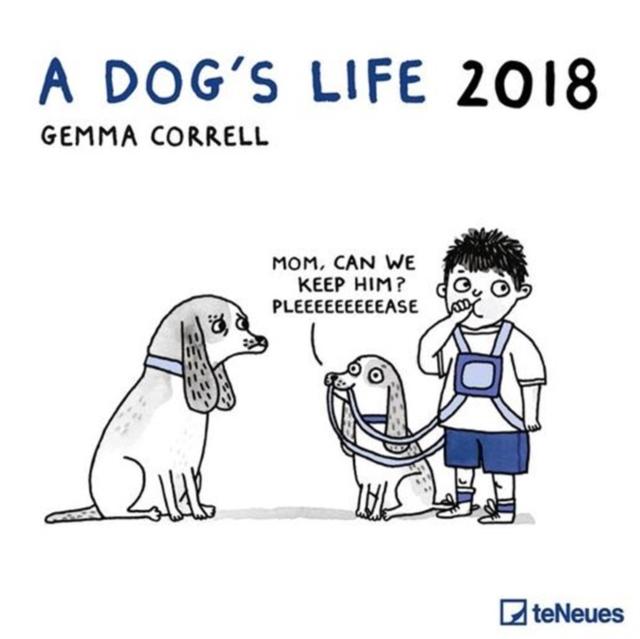 2018 A DOGS LIFE 30 X 30 GRID CALENDAR
