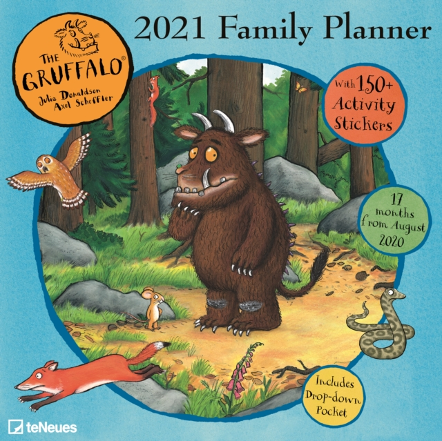 Gruffalo Square Wall Planner Calendar 2021