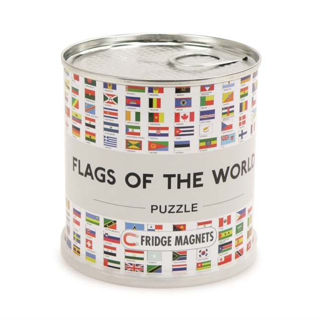 FLAGS OF THE WORLD PUZZLE MAGNETIC 100 P