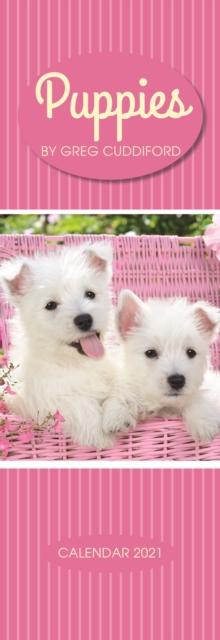 Puppies By Greg Cuddiford Slim Calendar 2021