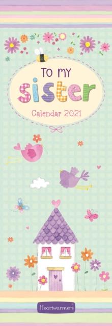 To My Sister Slim Calendar 2021