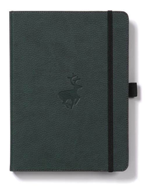 Dingbats A5+ Wildlife Green Deer Notebook - Lined