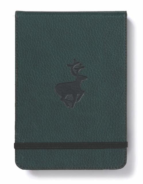 Dingbats A6+ Wildlife Green Deer Reporter Notebook - Plain