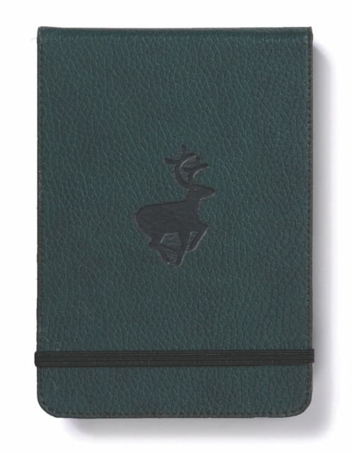 Dingbats A6+ Wildlife Green Deer Reporter Notebook - Graphed