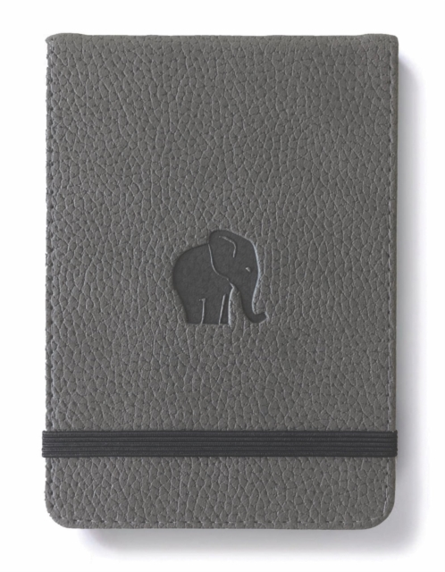 Dingbats A6+ Wildlife Grey Elephant Reporter Notebook - Grpahed