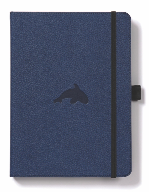 Dingbats A5+ Wildlife Blue Whale Notebook - Dotted
