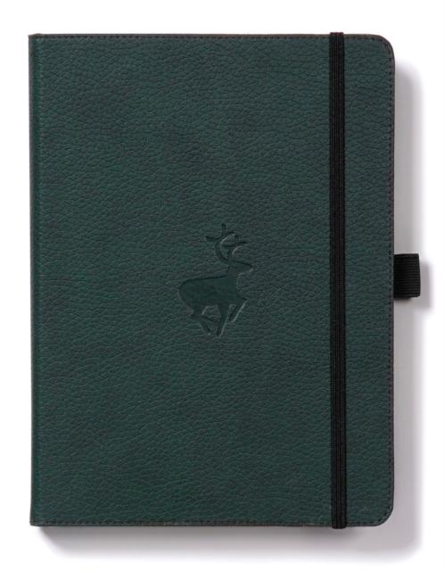 Dingbats A4+ Wildlife Green Deer Notebook - Graph