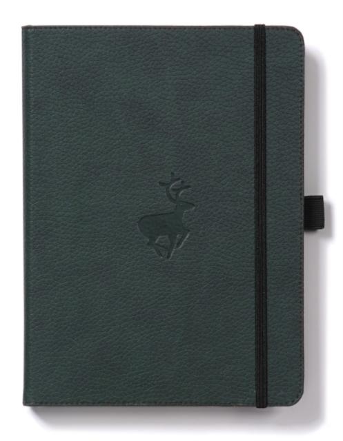 Dingbats A4+ Wildlife Green Deer Notebook - Dotted