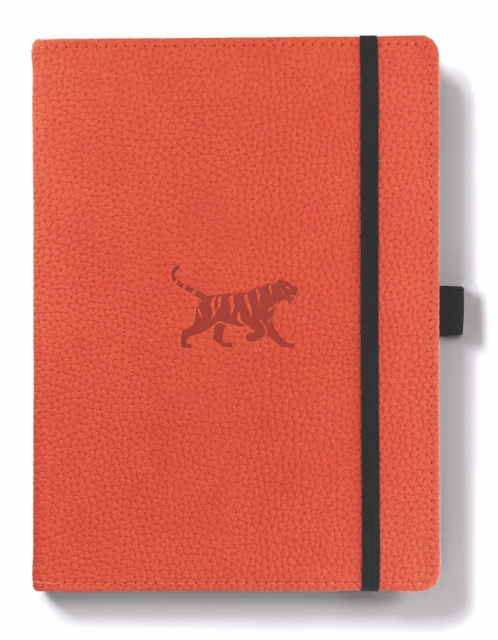 Dingbats A5+ Wildlife Orange Tiger Notebook - Graph