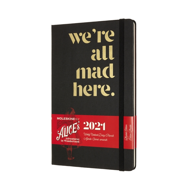 Moleskine Limited Edition Alice in Wonderland 2021 12-Month Weekly Large Diary