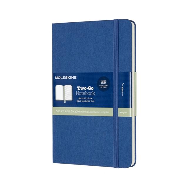 Moleskine Two-Go Notebook Medium Ruled/Plain Lapis Blue