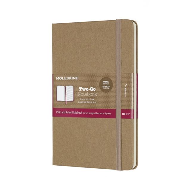 Moleskine Two-Go Notebook Medium Ruled/Plain Kraft Brown