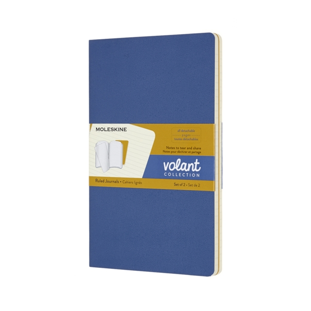 VOLANT JOURNALS LARGE RULED FORGETBLUE A