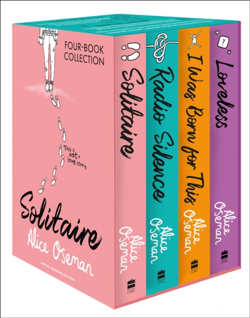 Alice Oseman Four-Book Collection Box Set (Solitaire, Radio Silence, I Was Born For This, Loveless)