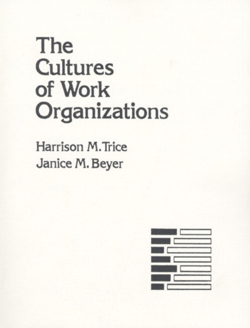 Cultures of Work Organizations