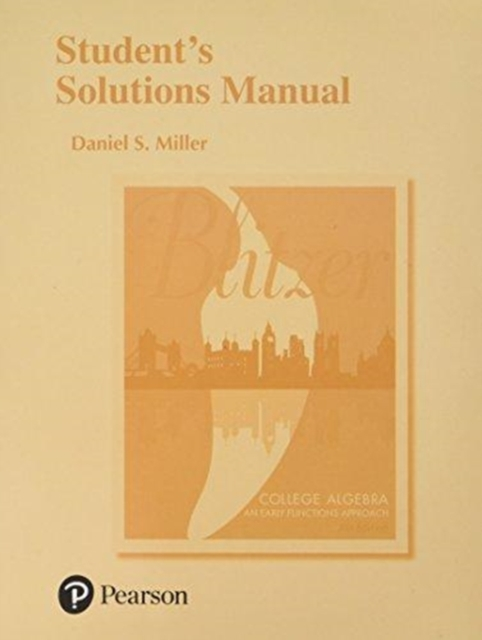 Student's Solutions Manual for College Algebra
