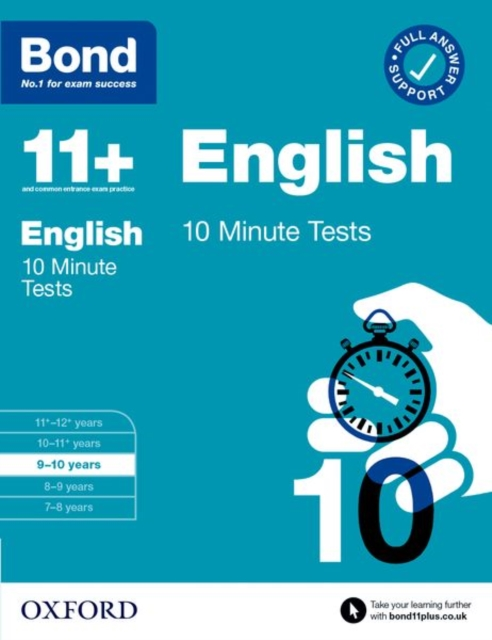 Bond 11+: Bond 11+ 10 Minute Tests English 9-10 years