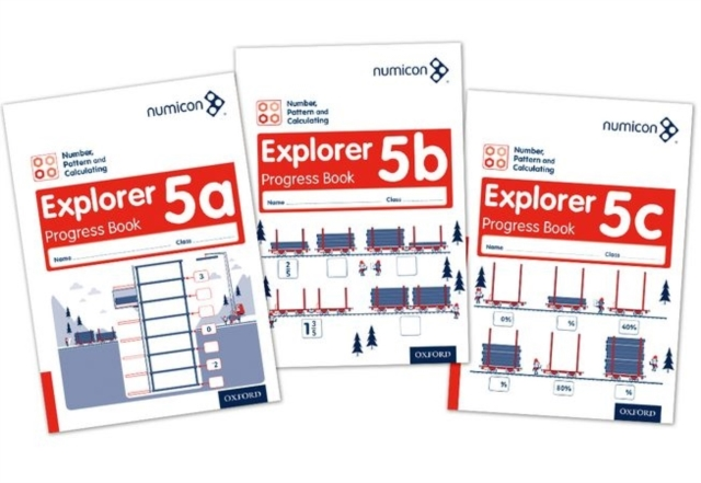 Numicon: Number, Pattern and Calculating 5 Explorer Progress Books ABC (Mixed pack)