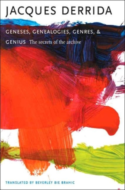 Geneses, Genealogies, Genres, and Genius