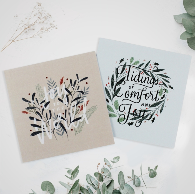 Floral Foliage 10-Pack Christmas Cards