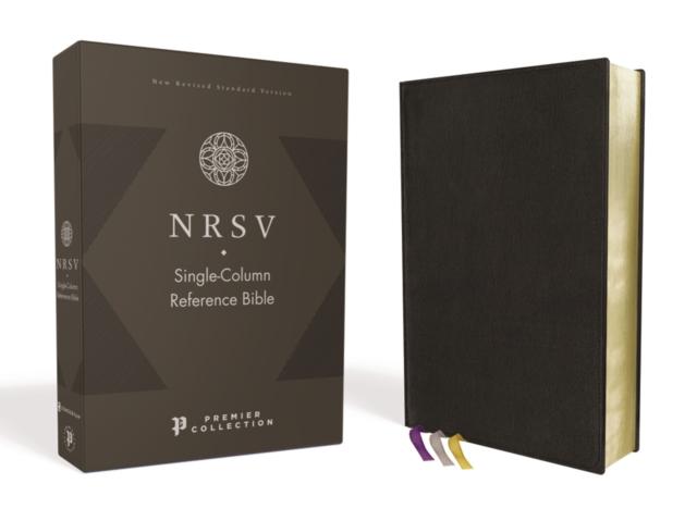 NRSV, Single-Column Reference Bible, Premium Goatskin Leather, Black, Premier Collection, Comfort Print
