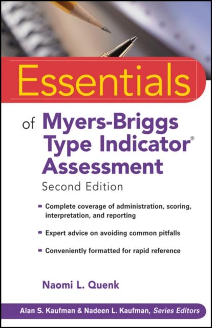 Essentials of Myers-Briggs Type Indicator Assessment