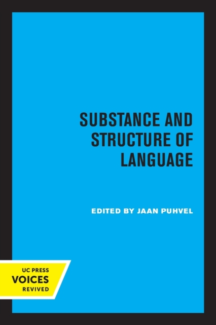 Substance and Structure of Language