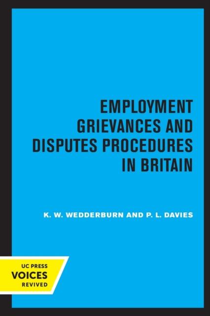 Employment Grievances and Disputes Procedures in Britain