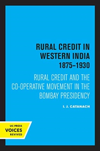 Rural Credit in Western India 1875-1930