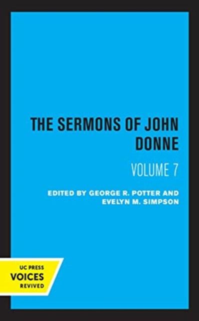Sermons of John Donne, Volume VII