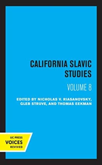 California Slavic Studies, Volume VIII