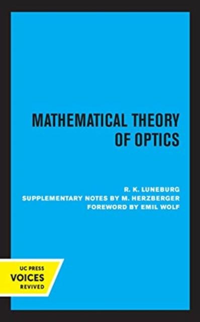 Mathematical Theory of Optics
