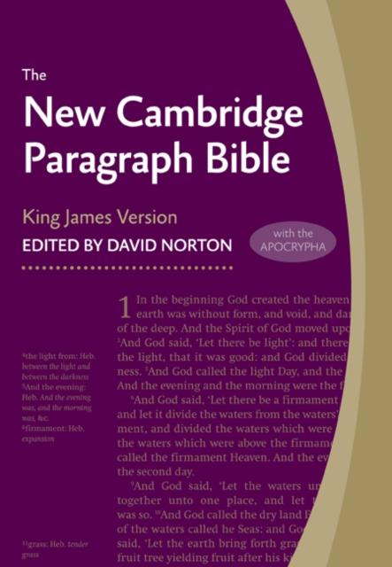 New Cambridge Paragraph Bible with Apocrypha, Black Calfskin Leather, KJ595:TA Black Calfskin