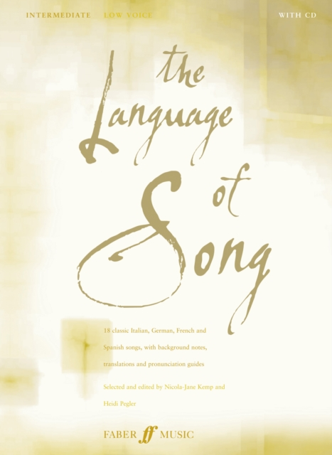 Language Of Song: Intermediate (Low Voice)