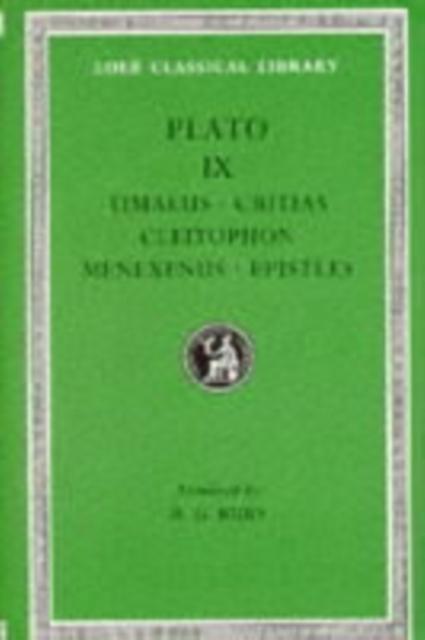 Timaeus. Critias. Cleitophon. Menexenus. Epistles