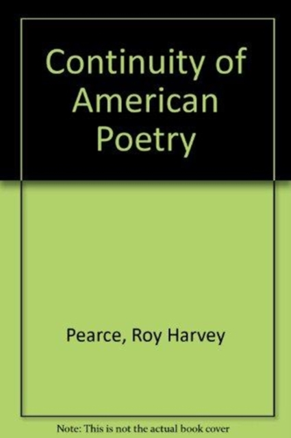 Continuity of American Poetry