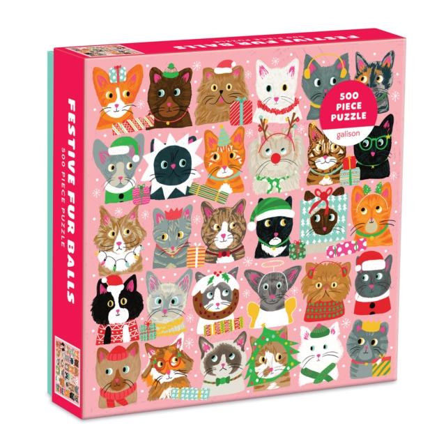 Festive Furballs 500 Piece Puzzle