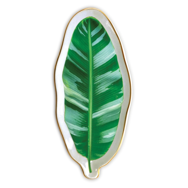 Banana Leaf Shaped Medium Porcelain Tray