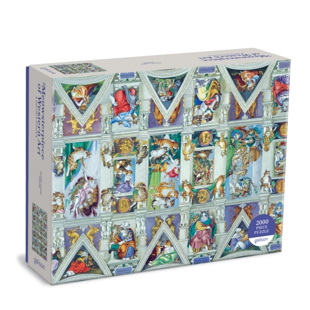 Sistine Chapel Ceiling Meowsterpiece of Western Art 2000 Piece Puzzle