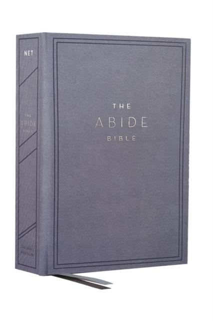 NET, Abide Bible, Cloth over Board, Blue, Comfort Print