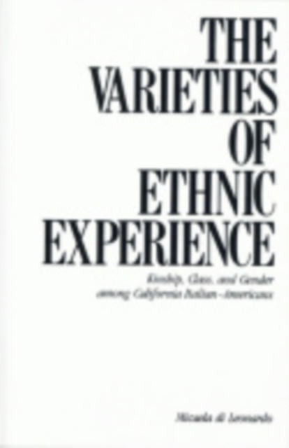 Varieties of Ethnic Experience
