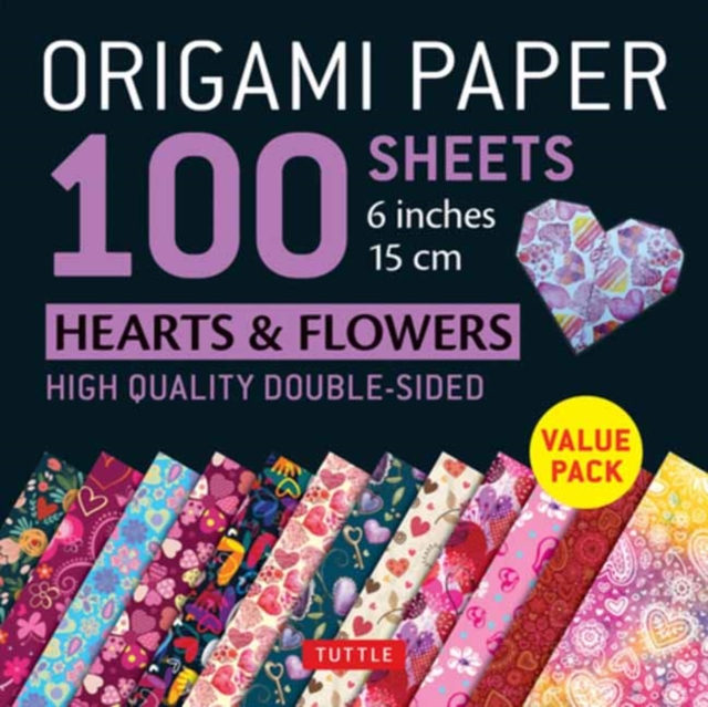 Origami Paper 100 sheets Hearts & Flowers 6