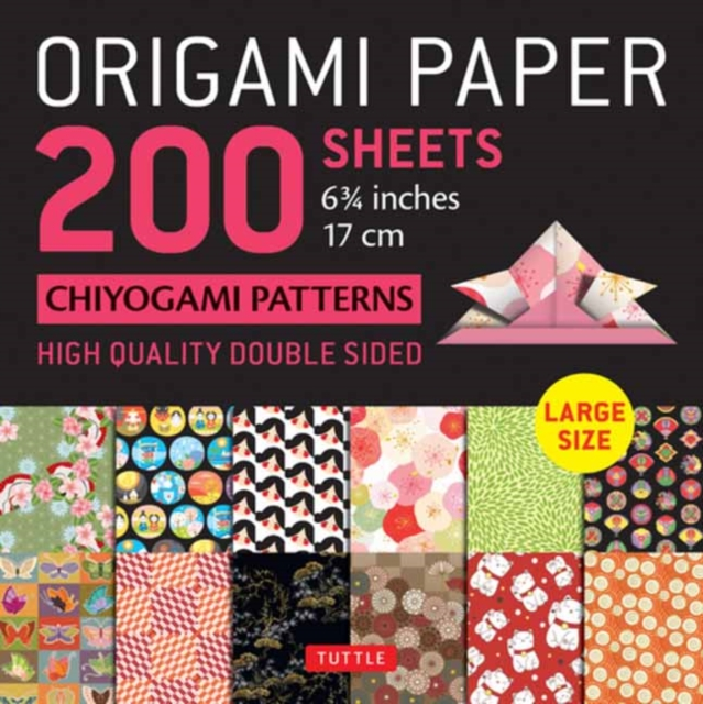 Origami Paper 200 sheets Chiyogami Patterns 6 3/4